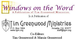 Published by Tim Greenwood Ministries